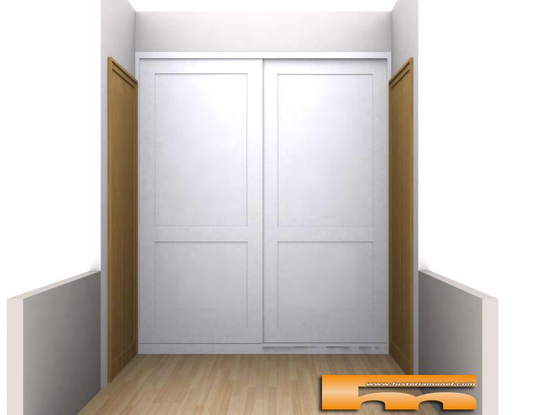 Armario empotrado a medida lacado puertas correderas santa for Armarios a medida