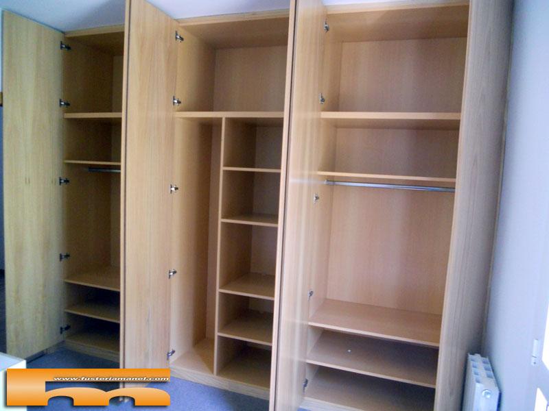 Armario armarios 4 puertas correderas la mejor galer a for Puertas madera barcelona