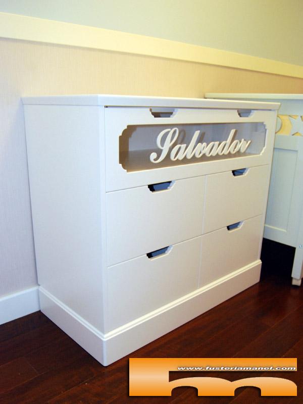 Mueble comoda cambiador a medida lacado personalizado - Cambiador bebe para comoda ...