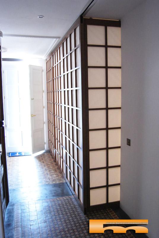 Puertas paneles shoji correderas jose barcelona for Puertas correderas barcelona