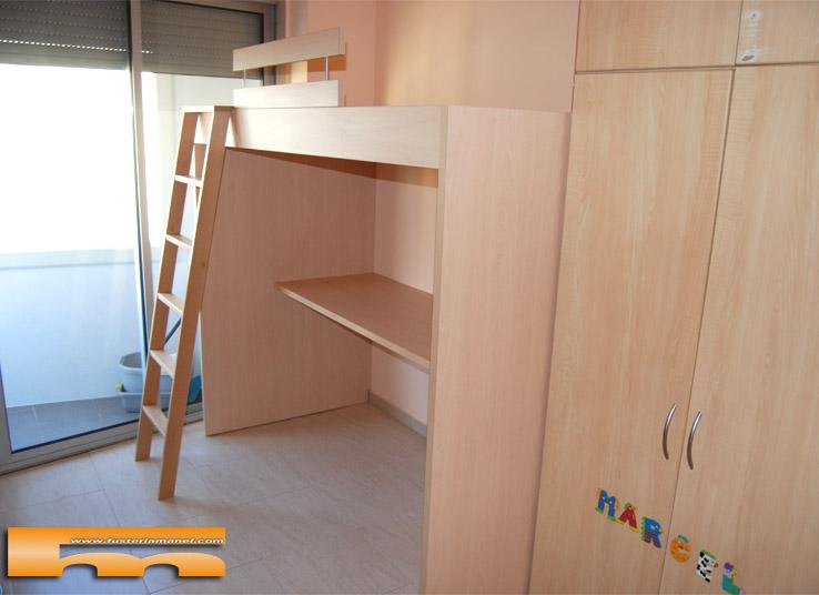 Decorar cuartos con manualidades camas altas juveniles for Dormitorio juvenil cama alta