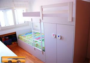 Literas camas realizadas habitaciones fichas - Habitacion infantil tren ...