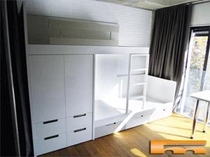 Decorar con armarios y muebles a medida for Medidas literas tren