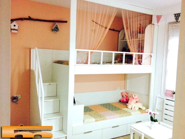 Literas y camas a medida for Habitaciones con camas altas