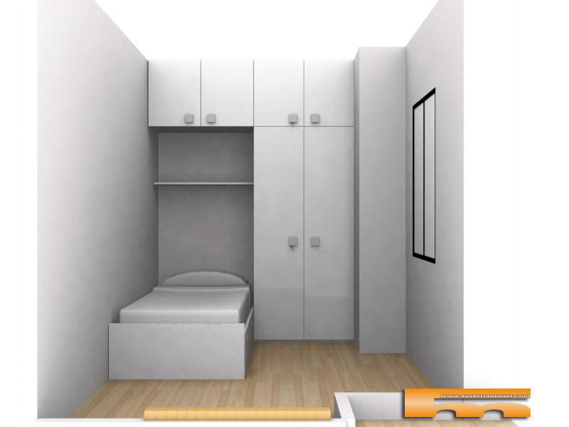 Cama con armario puente habitaci n infantil barcelona - Medidas cama doble ...