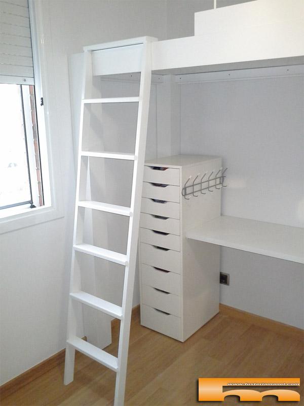 Cama alta para habitaci n infantil compartida barcelona for Habitacion cuadruple barcelona