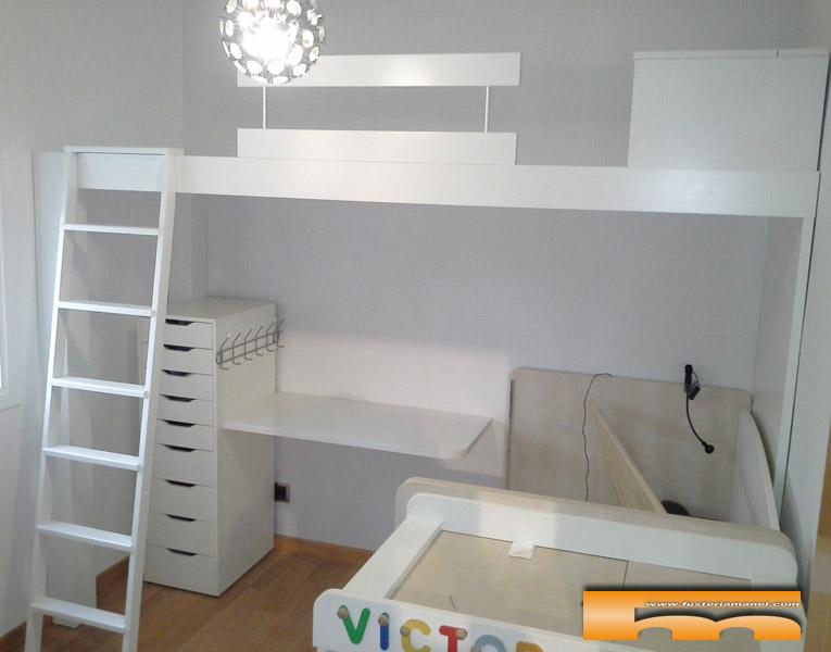 De habitaci n individual a compartida aprovechar lo que for Habitaciones con camas altas