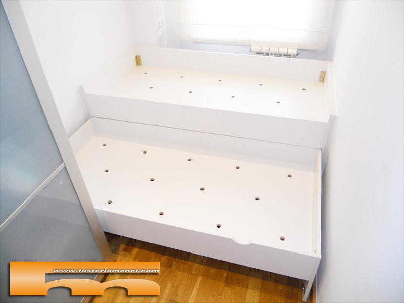 Cama compacta nido doble con caj n 181 5cm sant cugat for Medidas cama nido con cajones