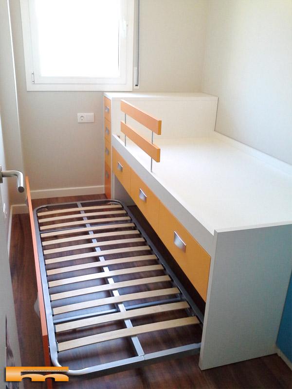 Cama compacta habitacion infantil mariajos sant feliu for Medidas cama compacta