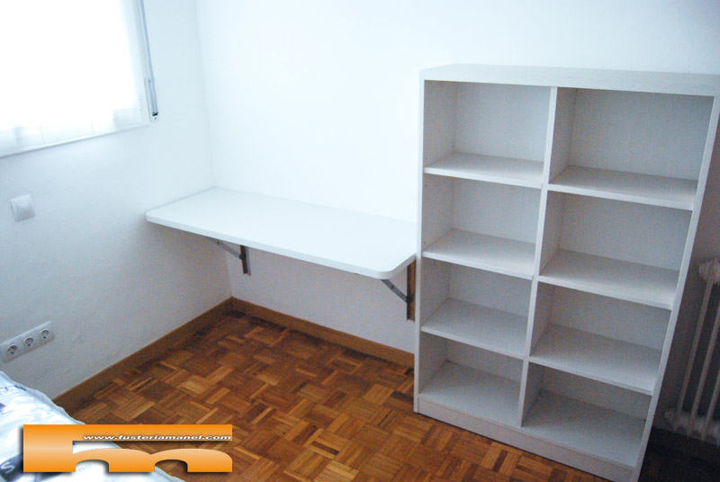Habitaci n ni os con cama compacta armario escritorio - Escritorio abatible ...