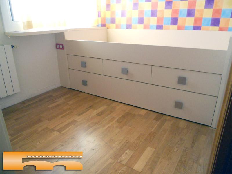 Cama nido a medida muebles a medida barcelona david for Cama infantil doble con cajones