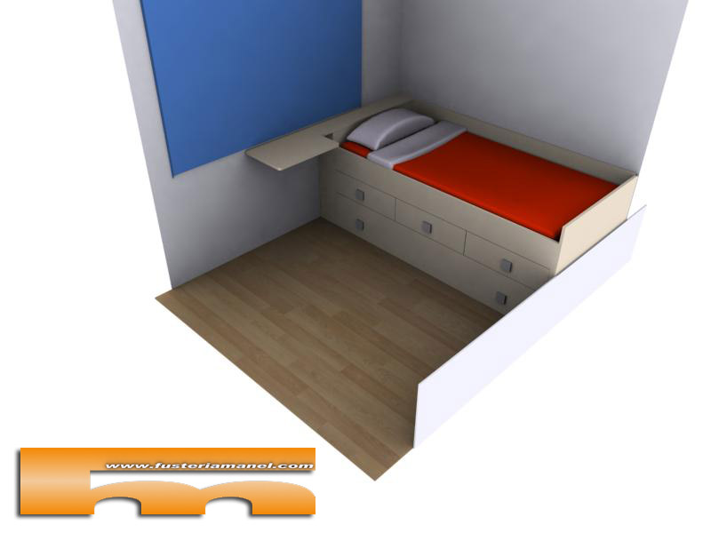 Cama nido a medida muebles a medida barcelona david - Medidas cama doble ...