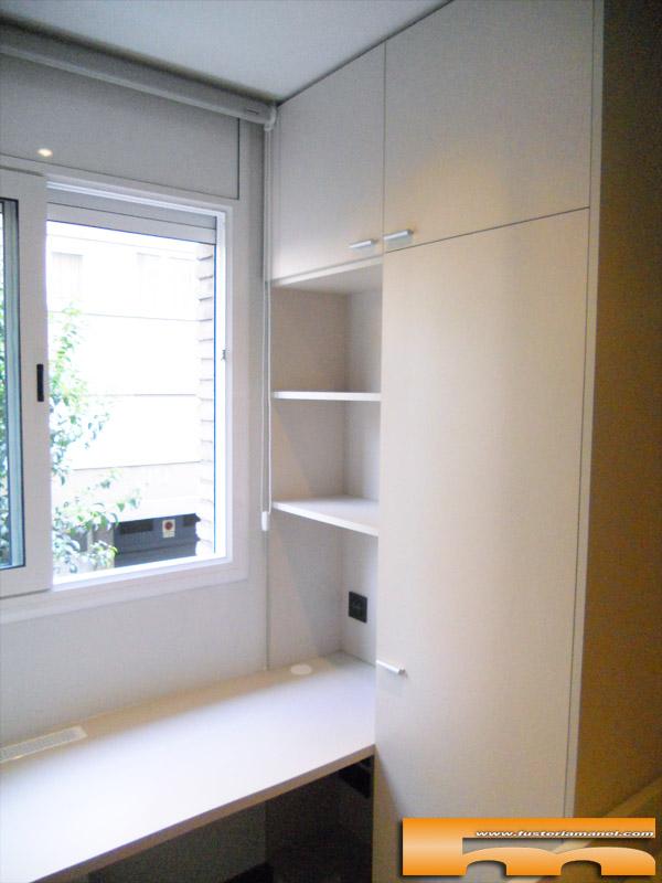 Cama compacta nido doble con armario y escritorio - Habitacion juvenil barcelona ...
