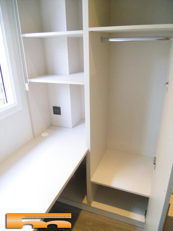 Cama compacta nido doble con armario y escritorio for Escritorio habitacion juvenil