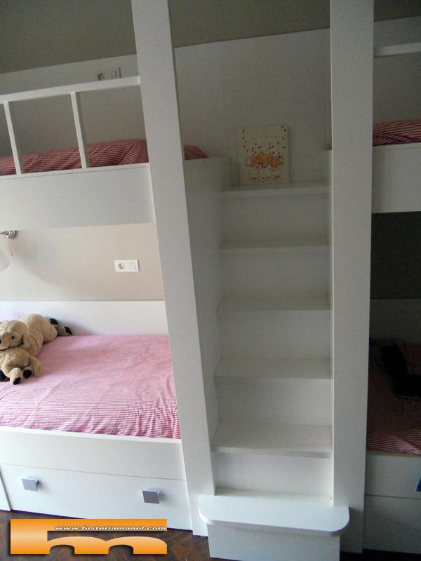 Litera a medida cuadruple barcelona juliana - Habitacion infantil cama nido ...