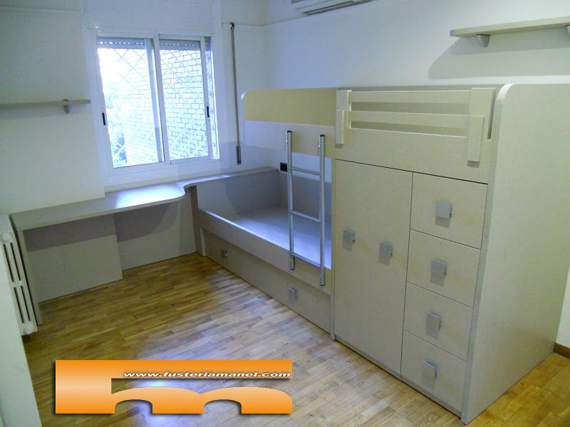 Habitaci n alargada y estrecha ventajas de una litera tren - Literas tipo tren medidas ...