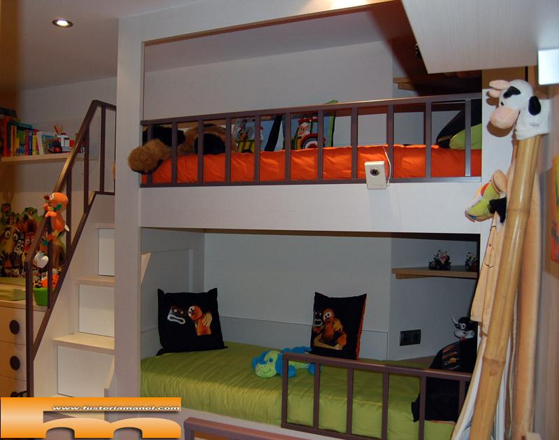 Litera medida y cama individual a medida muebles a - Muebles infantiles barcelona ...