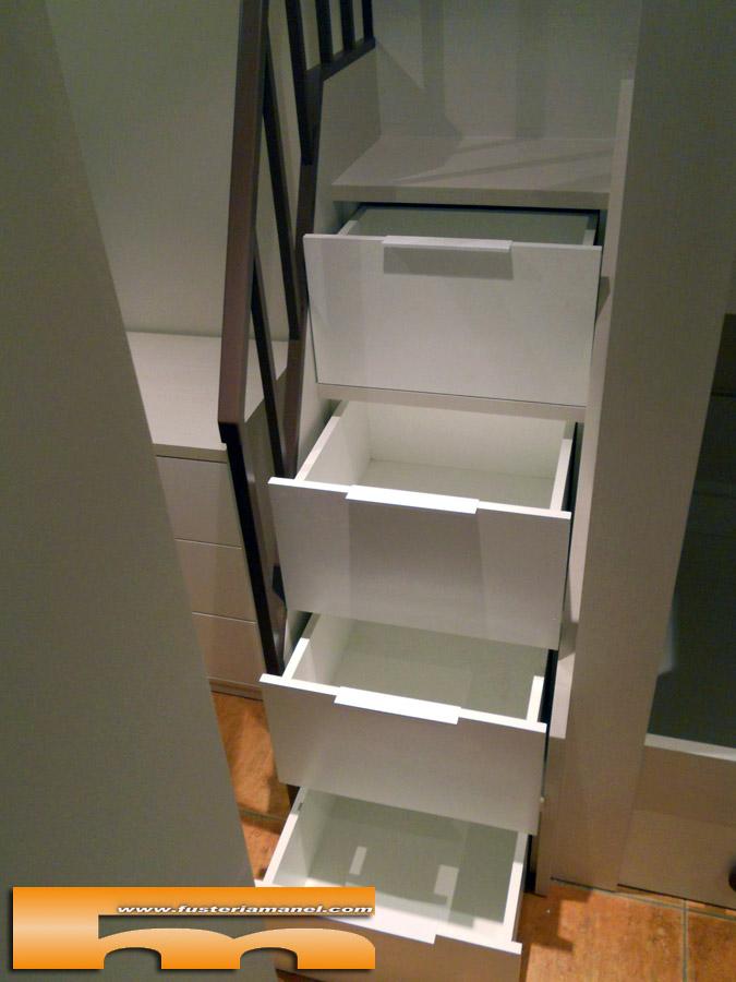 Litera medida y cama individual a medida muebles a medida matadepera ester - Literas con escaleras de cajones ...