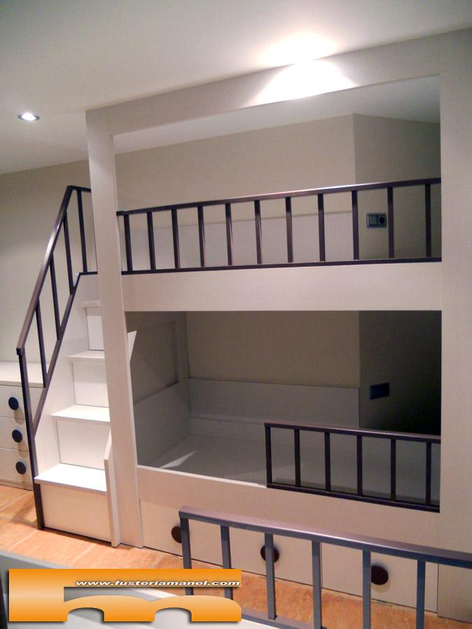 Litera medida y cama individual a medida muebles a - Escaleras a medida ...
