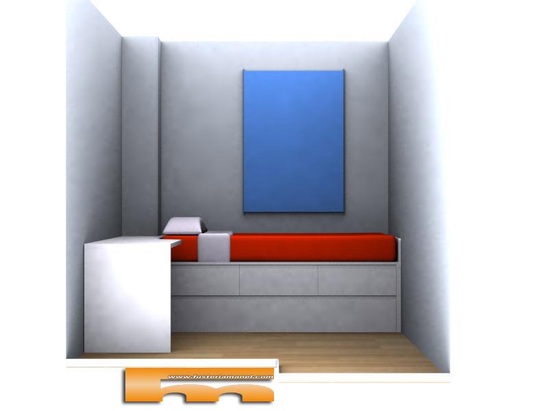 Cama nido y escritorio a medida lacado muebles a medida - Habitacion con cama nido ...