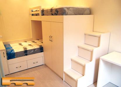 Literas camas realizadas habitaciones fichas - Escalera cajones para litera ...