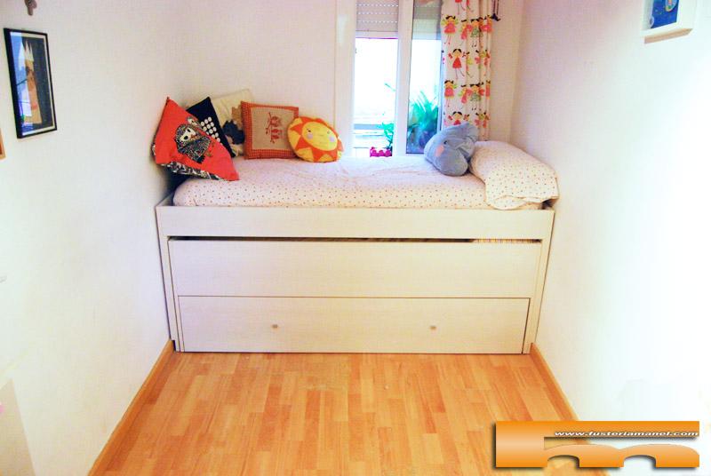 habitaci n infantil armario y cama compacta triple anna