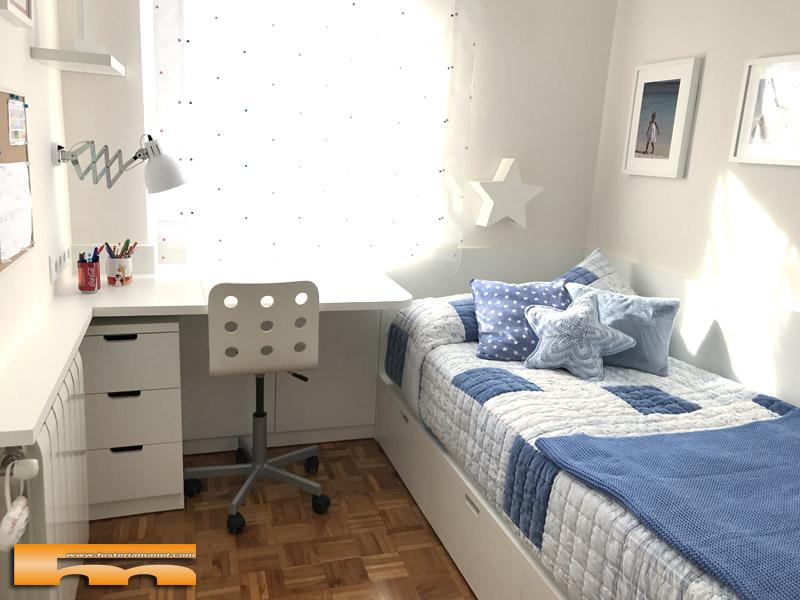habitacion infantil peque a conjunto armario escritorio On habitacion infantil 2 camas