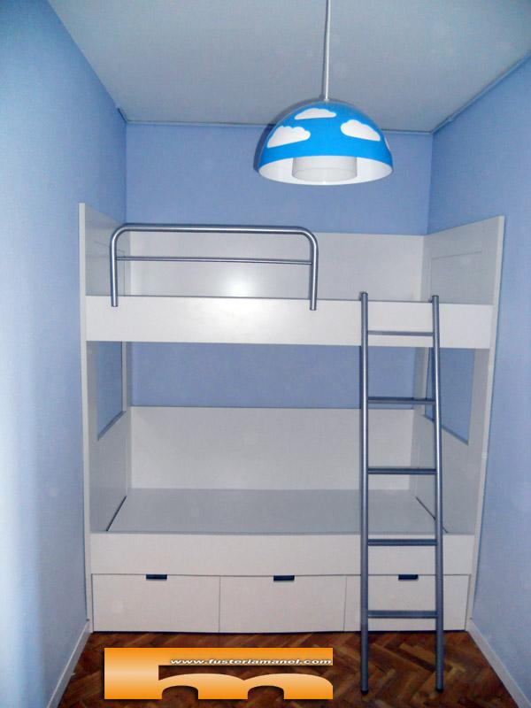 Litera a medida habitaci n infantil barcelona alex - Literas tren medidas ...