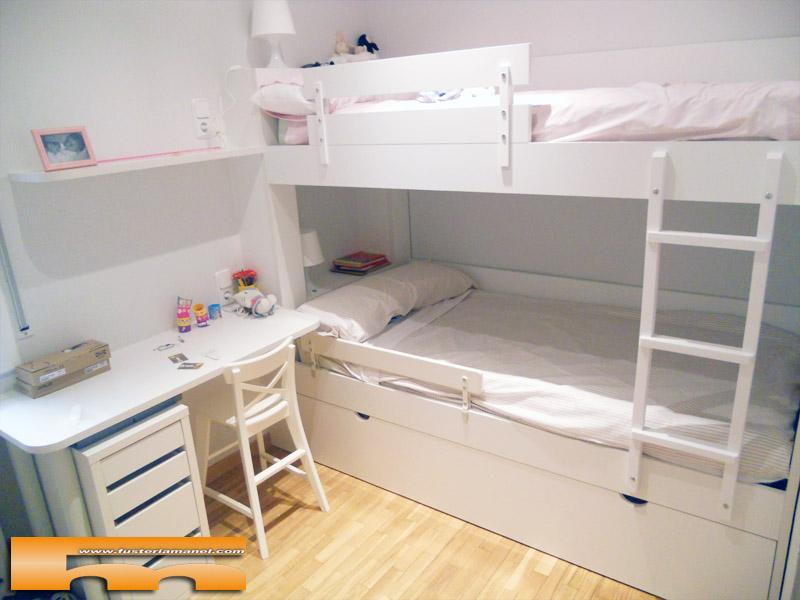 Litera a medida habitaci n infantil barcelona gonzalo - Dormitorios con literas para ninos ...