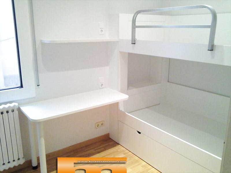 Litera a medida habitaci n infantil barcelona gonzalo - Camas nido lacadas en blanco ...