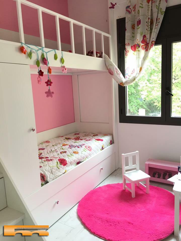 Litera escalera cajones a medida para habitaci n infantil - Escalera cama infantil ...