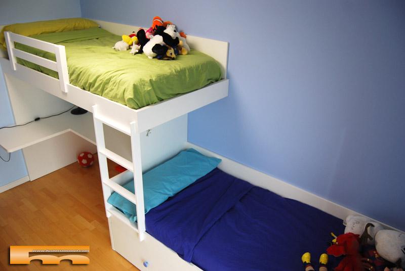 Habitacion infantil litera escritorio jordi sabadell - Habitacion infantil tren ...