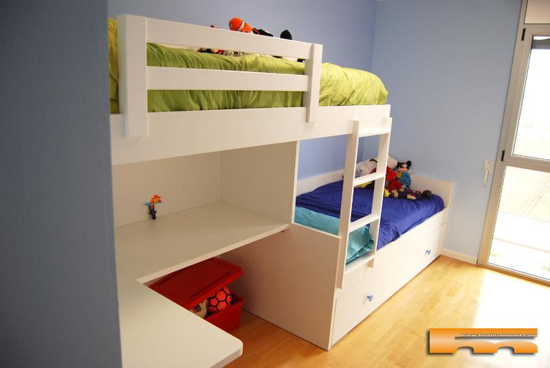 Habitacion infantil litera escritorio jordi sabadell - Literas tipo tren medidas ...