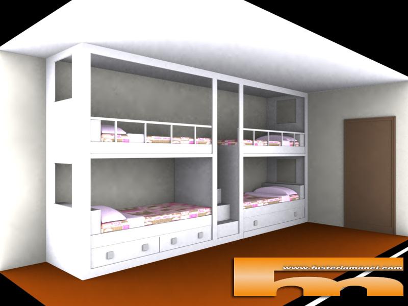 Literas a medida camas a medida para habitaciones - Habitacion con literas para ninos ...