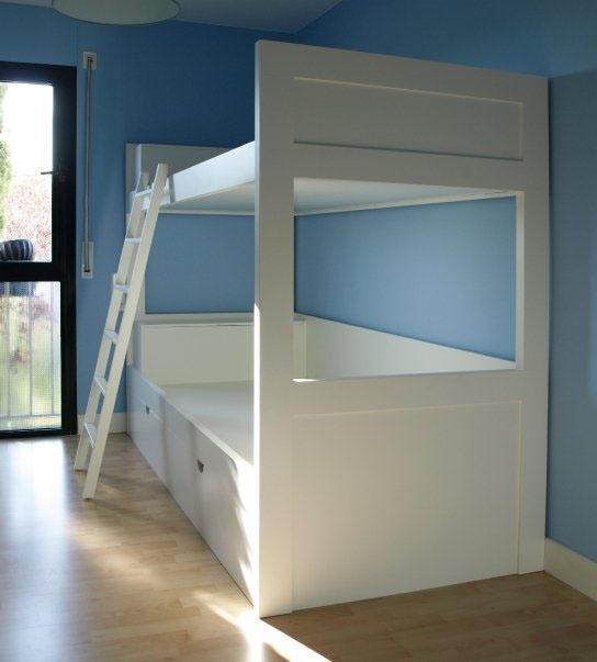 Litera a medida cama para habitaciones peque as - Literas para habitaciones pequenas ...