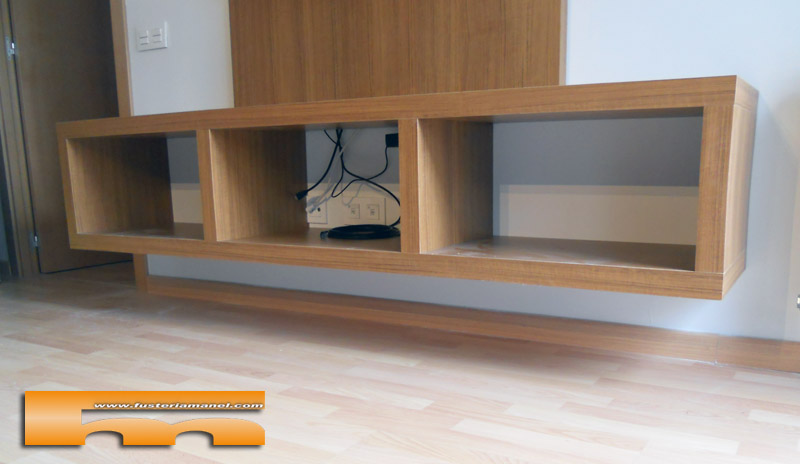 Mueble sal n tv a medida badalona oscar - Muebles de pladur para salon ...