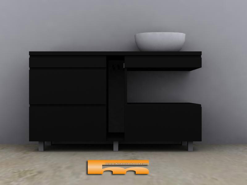 Medidas ba o de servicio for Muebles de bano negro